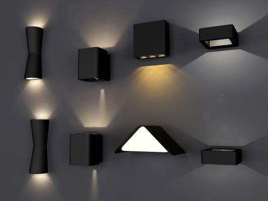 现代金属质感壁灯 射灯