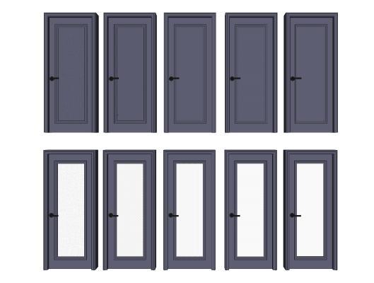 现代门 玻璃门组合