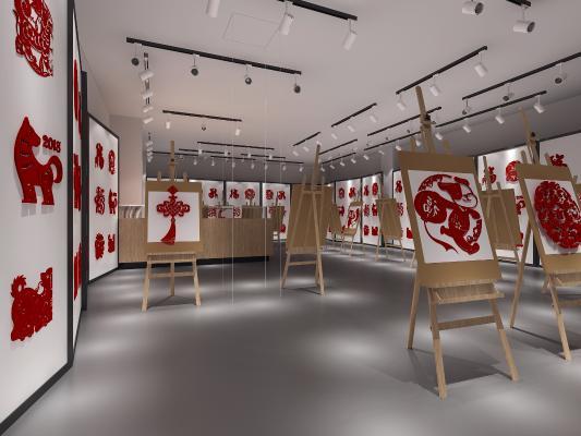 现代剪纸艺术展览区