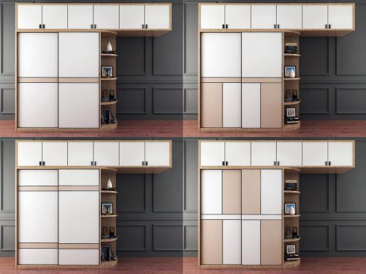 现代移门衣柜组合