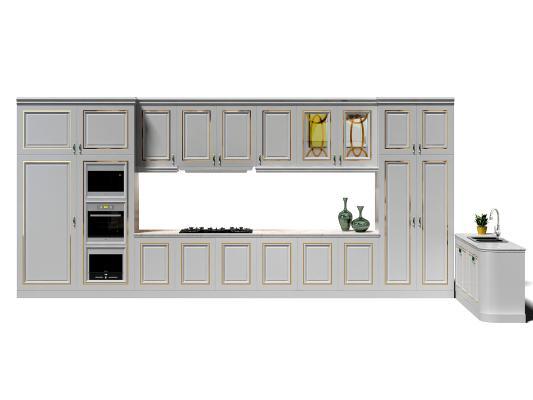 歐式簡約廚房櫥柜 裝飾柜 櫥柜