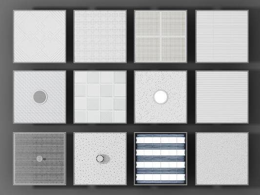 现代硅钙板石膏板模型