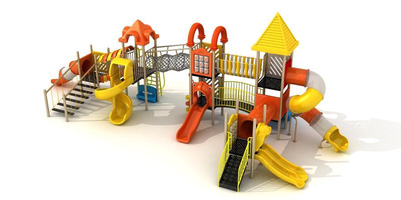 现代滑梯 游乐设备 儿童滑梯