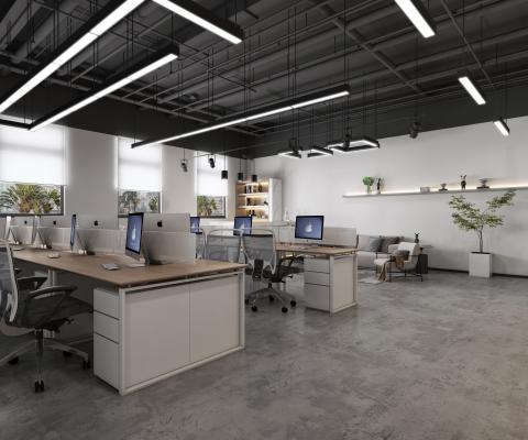 现代办公室 前台 办公区
