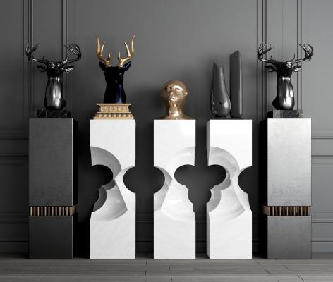 现代金属雕塑 带底雕塑 抽象雕塑