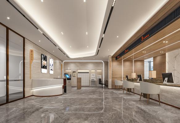 现代银行大厅