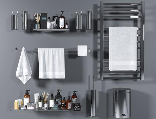 现代洗浴用品 毛巾 毛巾架