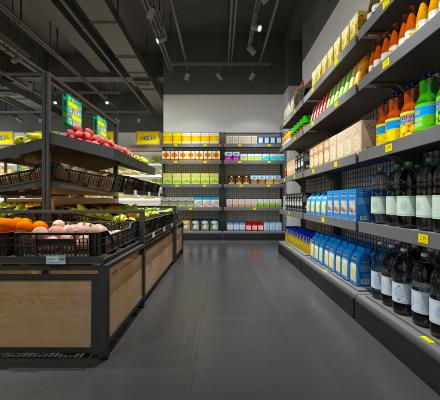 现代生鲜超市