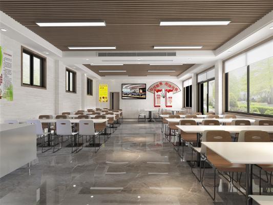 现代员工食堂 消防队员工食堂