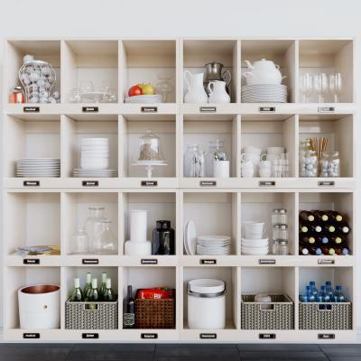 现代餐具展示柜
