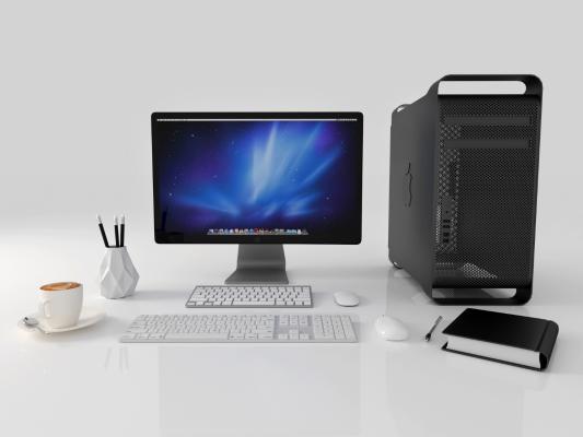 现代电脑 显示屏 主机箱