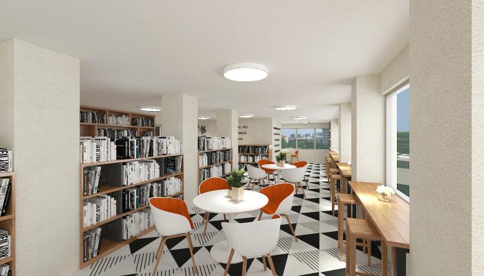 现代图书馆 书吧 书店 图书室