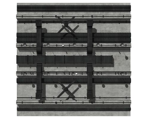 现代通风管道 轨道吊顶 线槽天花排风管道