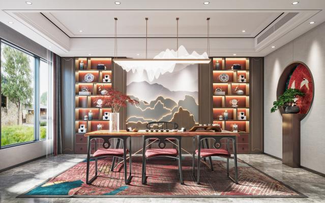 新中式茶室 书房