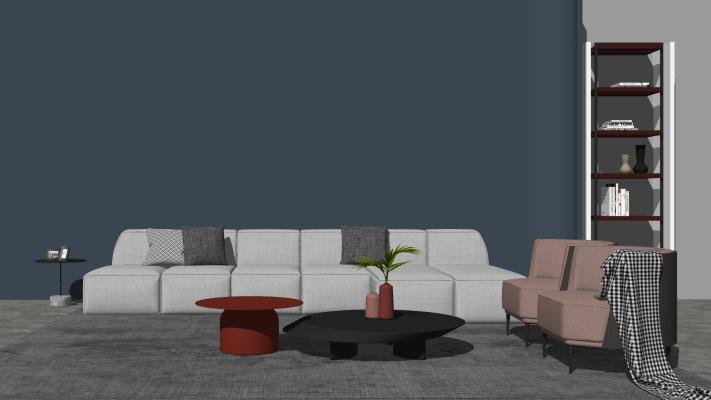 现代时尚沙发茶几组合