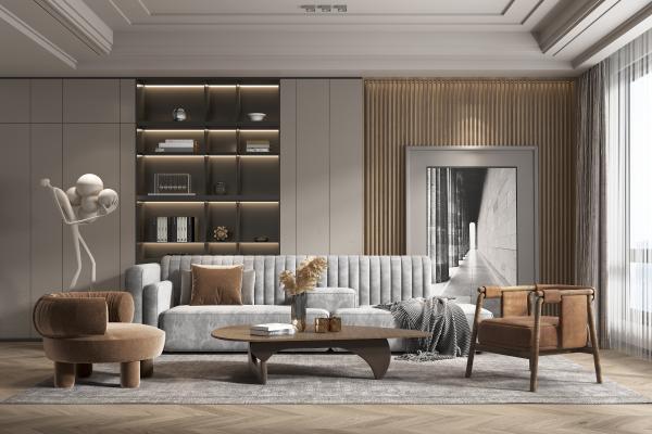 现代家居客厅 沙发 茶几