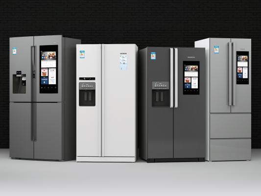 现代智能双开门冰箱