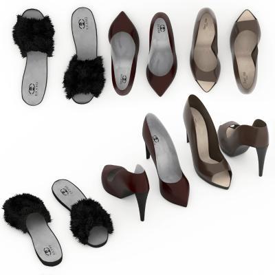 现代女士高跟鞋 凉鞋