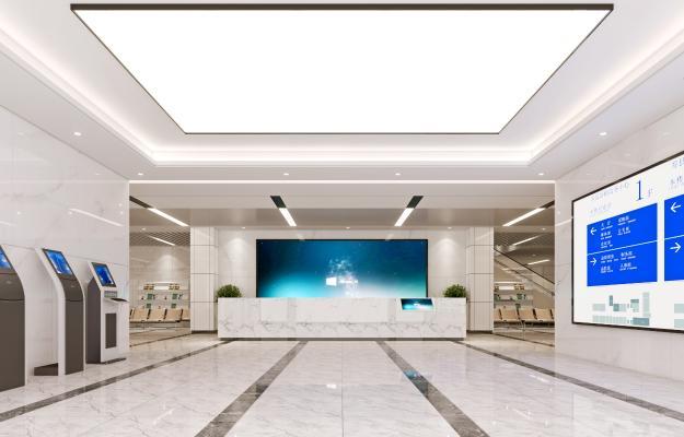 现代政府行政服务大厅 政府办公大厅 叫号机