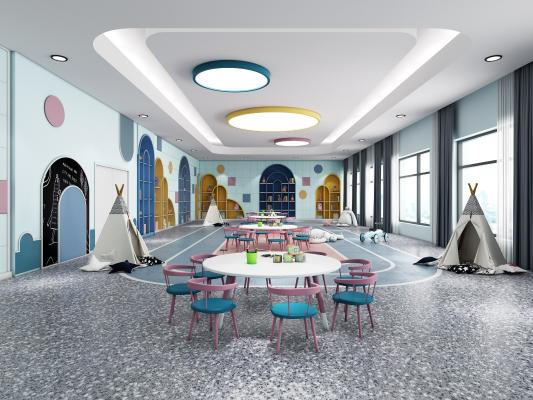 现代风格幼儿园活动室