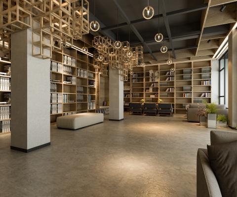 新中式阅览室