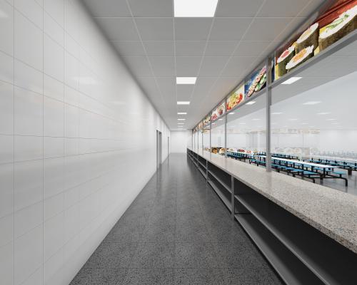 现代食堂 售卖区 学校食堂