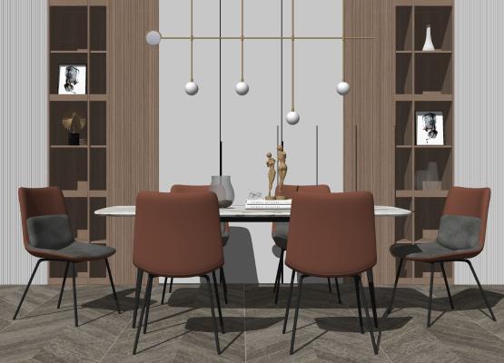 现代简约餐厅 餐桌椅组合