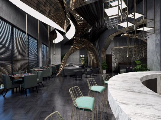 后现代海鲜主题餐厅