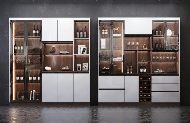 现代风格酒柜组合 酒 装饰品