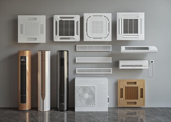 现代空调组合