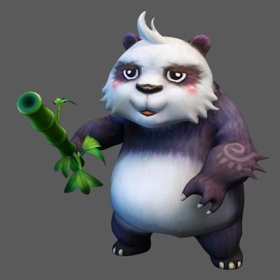 现代战斗的熊猫