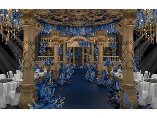 新古典宴会厅 婚礼布置