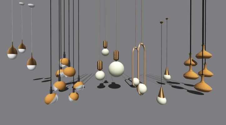 现代金属吊灯 灯具 不锈钢灯具