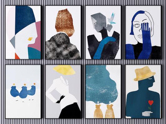 现代装饰画 挂画 艺术画