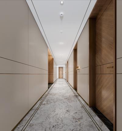现代酒店过道