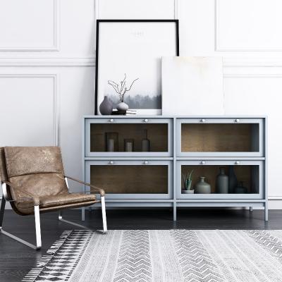 现代边柜饰品休闲椅