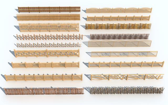新中式木篱笆围栏