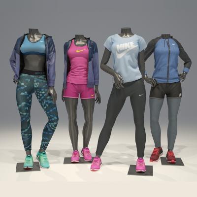 现代女服装模特