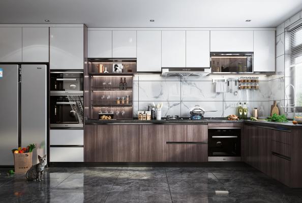 现代风格厨房橱柜 装饰品 摆件