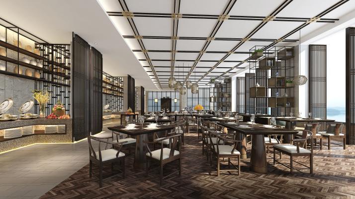 新中式火鍋店 包廂 主題餐廳 餐廳 現代風格 工業風 自助餐廳 休閑餐廳