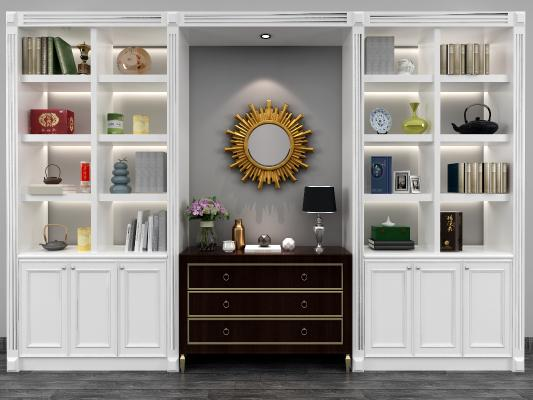 美式书柜 边柜