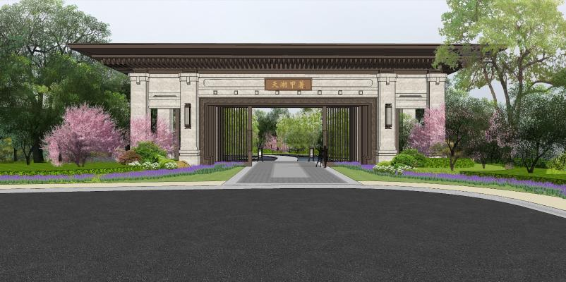 新中式杭州千岛湖建筑景观