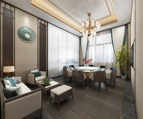 新中式酒店包厢
