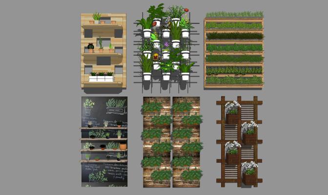 现代风格绿植墙