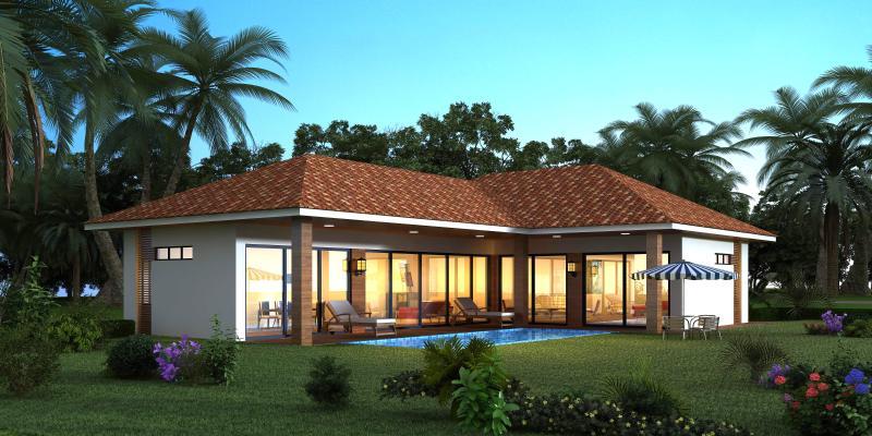 東南亞獨棟別墅外觀