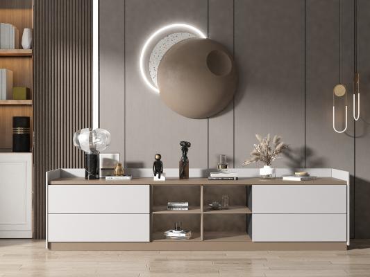 现代风格电视柜 饰品摆件 墙饰