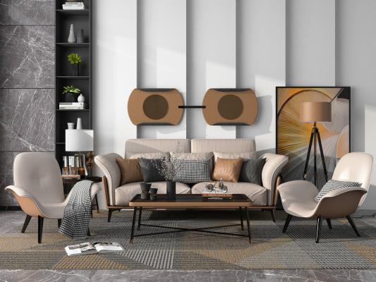 现代轻奢沙发 茶几组合