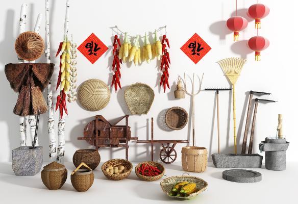 新中式自然风农具