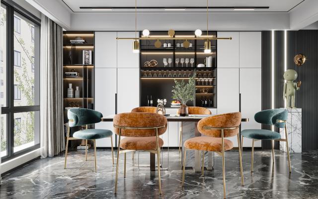 現代餐椅 餐廳