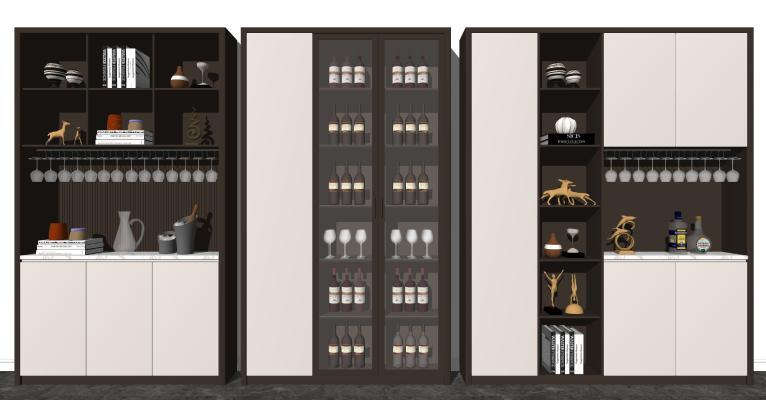 现代酒柜组合 装饰柜 储物柜
